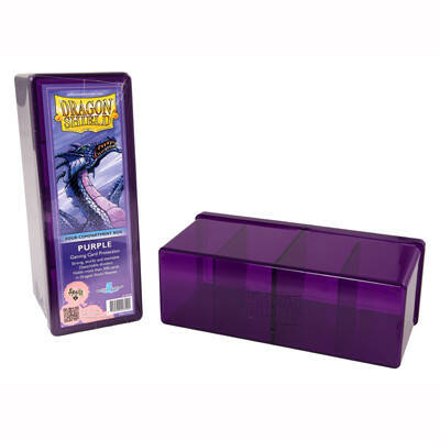 Storage Box Dragon Shield 4 compartment box - Paars