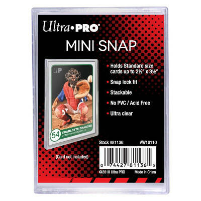 Ultra Pro Mini Snap Card Holder Hard Plastic