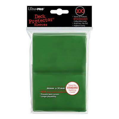 Ultra Pro Sleeves Green Solid (100 stuks)