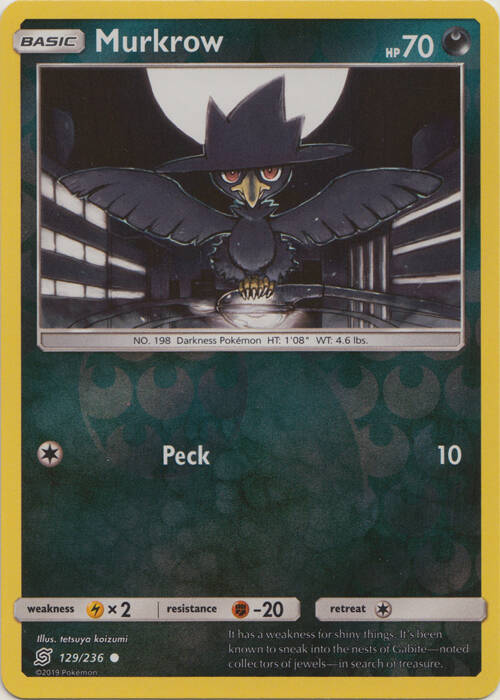Murkrow -129/236- S&M Unified Minds - Common Reverse Holo
