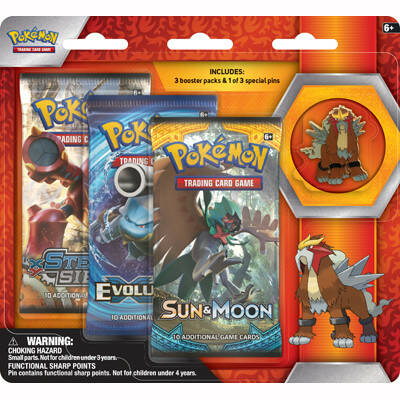 Legendary Beasts Collectors Pin 3 Pack blister Entei