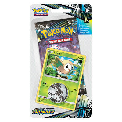 Pokemon Sun & Moon Lost Thunder Checklane blister Rowlet