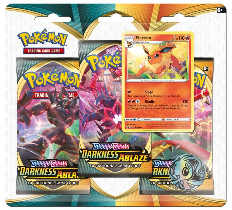 Sword and Shield - Darkness Ablaze - Flareon 3 Pack Blister
