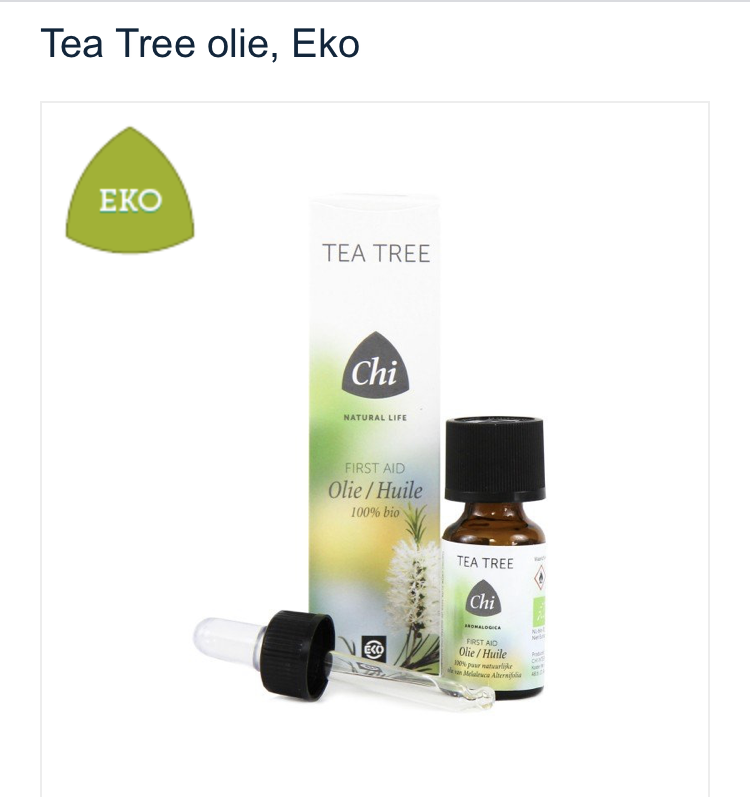 Tea Tree olie, Eko. art.nr 49100