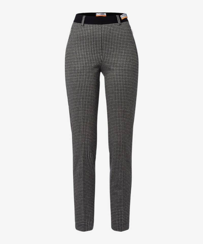 Raphaela by Brax - Broek zwart/wit in jersey model 15-5247-LILLYTH (48052)