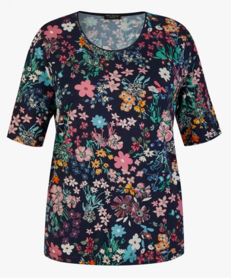 Via Appia Due  - T-shirt korte mouwen met bloemenprint 48779 (811451)
