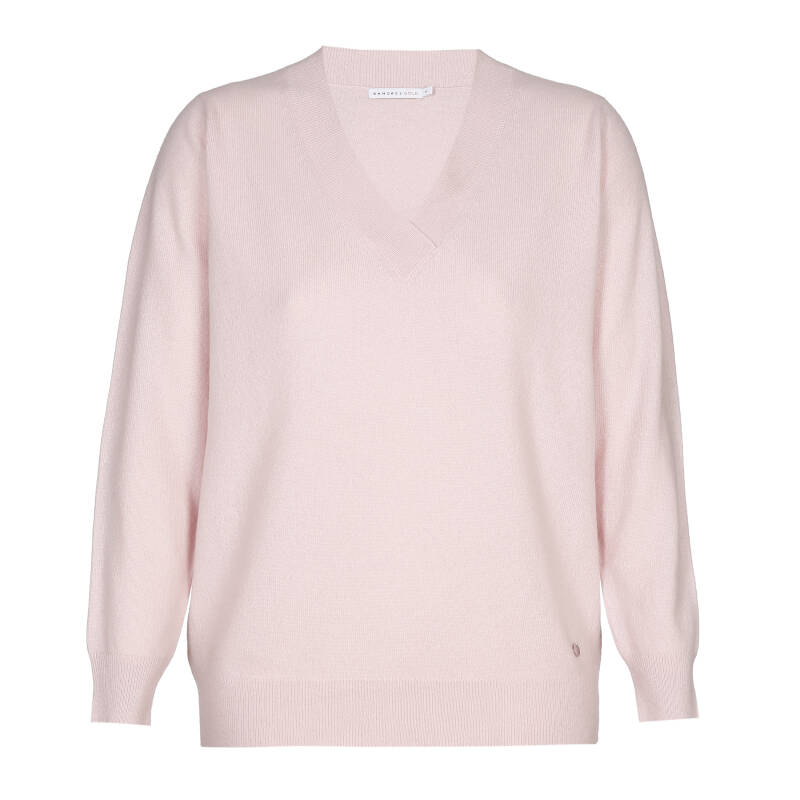 Xandres Gold - Cashmere pull in lichtroze met V-hals 49233 (KITANO/09198/5491)