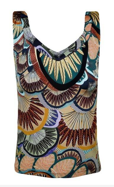 Blue IV - Top met print in jersey (BEA/395)