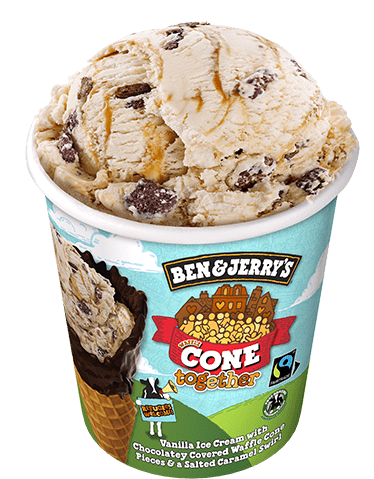 Ben & Jerry Cone Together 500ml.