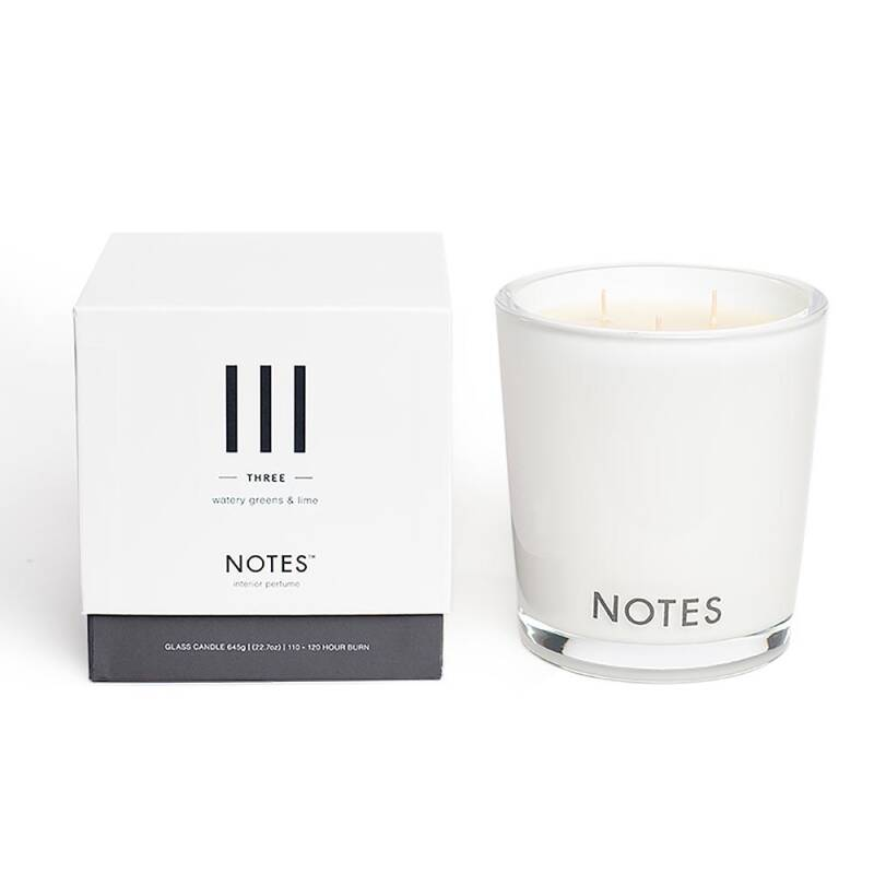 Notes Candle III three - Watery greens & Lime