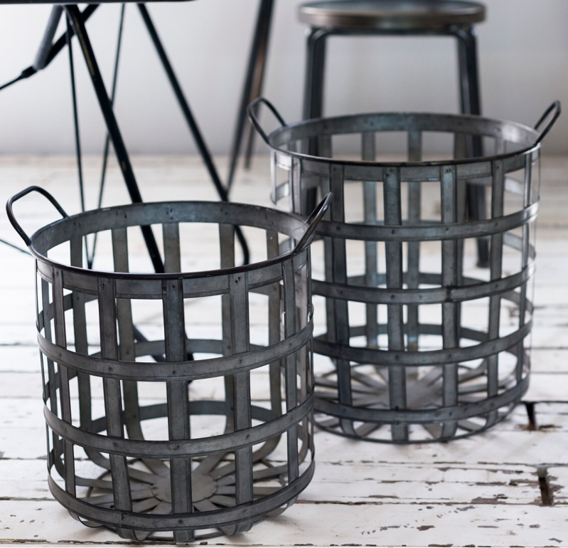 Home Society Metal Basket