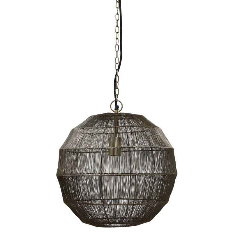 PTMD Zezz brass wire hanging lamp ball s