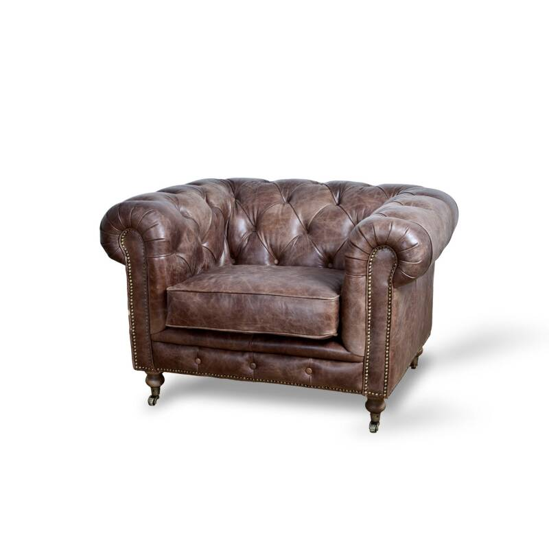 Eleonora Fauteuil Chesterfield - Donkerbruin