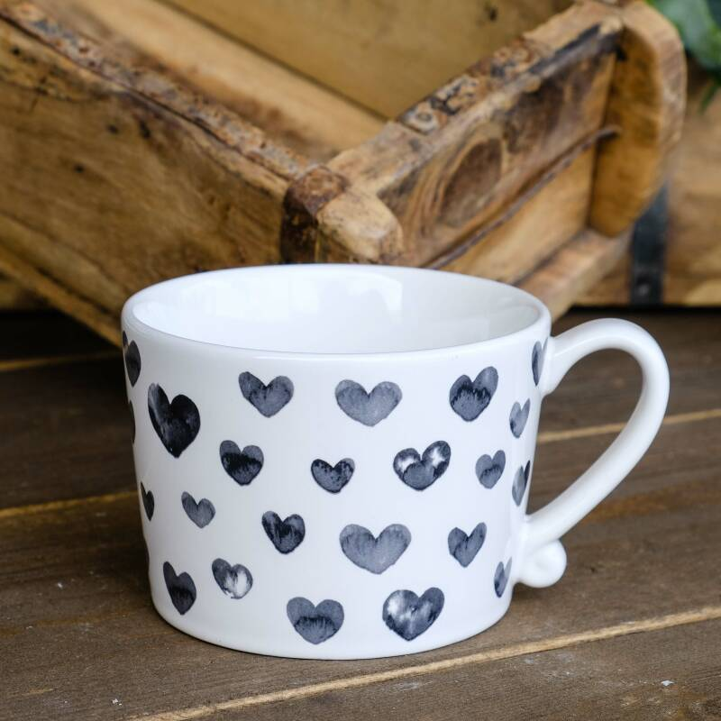 Bastion Collections Mok Hearts in watercolor Black