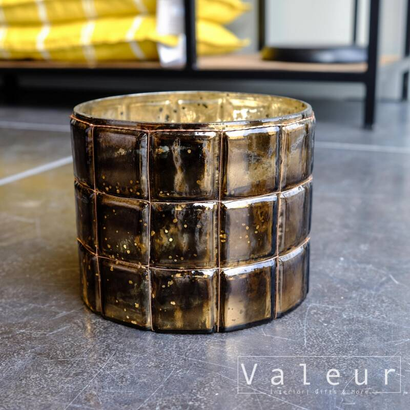 Bastion Collection Waxinelicht bruin met draad L