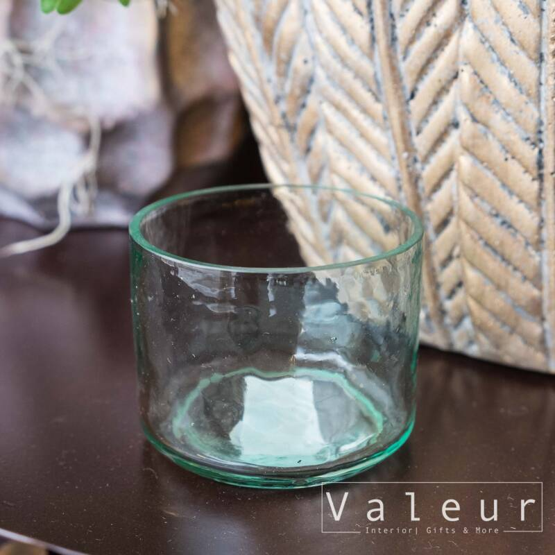 Zusss waxinelichtje houder gerecycled glas - Transparant