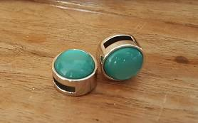 12mm Turquoise Glim Bol Schuiver