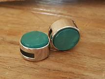 12mm Turquoise Glim Plat Schuiver