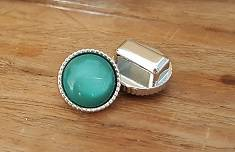 12mm Turquoise Glim Bol Schuiver Ribbel