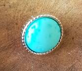 12mm Turquoise steen Schuiver ribbel