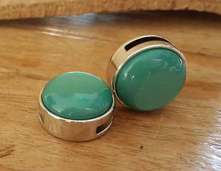 Turquoise Bol Schuiver20mm