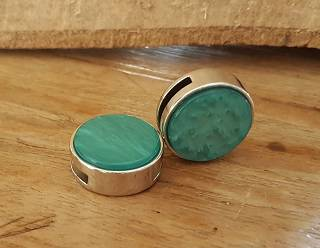 Turquoise Plat Schuiver 20mm