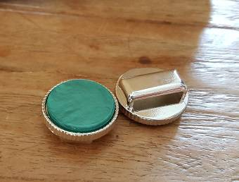 Turquoise Plat Schuiver Ribbel20mm