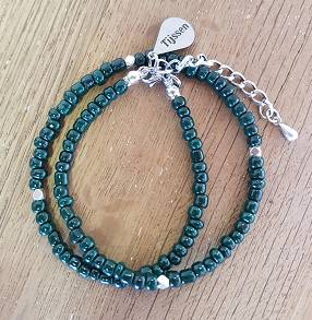 Dubbele Armband Groen - Ook als ketting