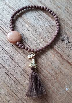 Heart and Soul Armband Brown- By Jozemiek
