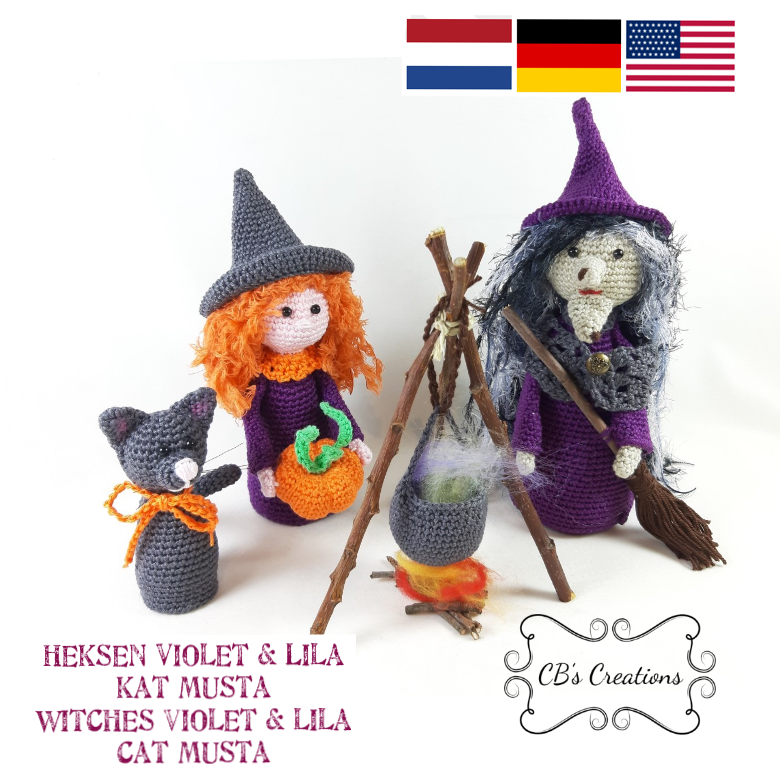 Halloween Witches and Cat, PDF