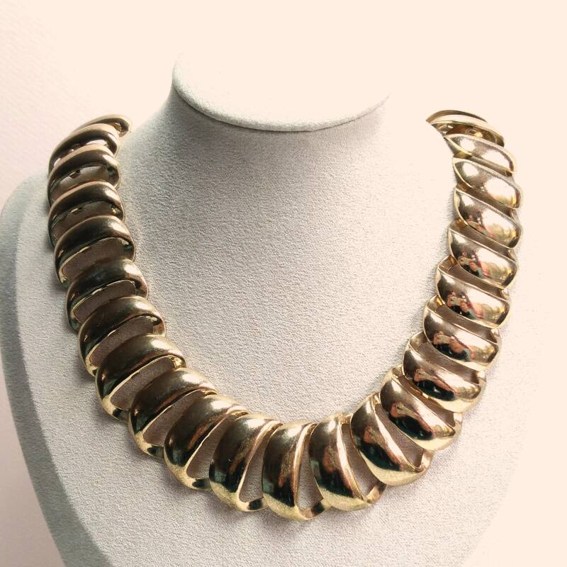 Chunky gouden ketting 70s