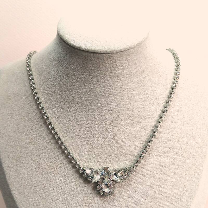 Heldere strass ketting 50s