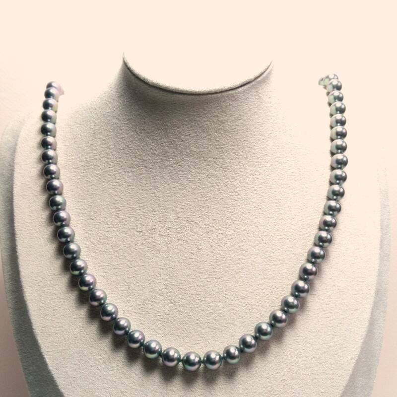 Changeant parel ketting 80s