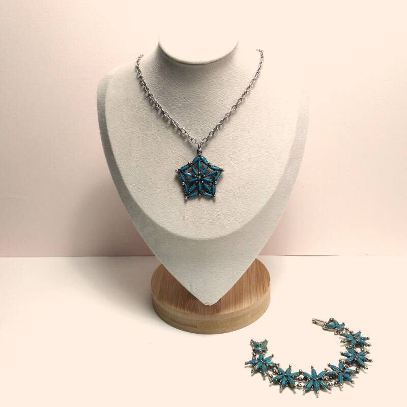 Turquoise ster set 70s