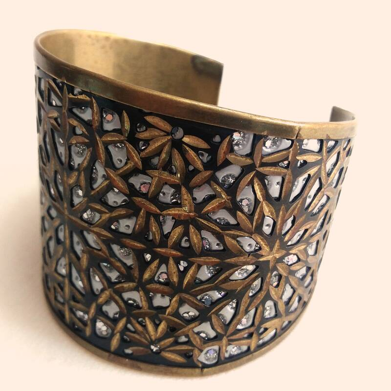 Messing sterren armband 70s
