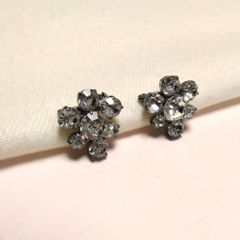 Duo strass broches 50s
