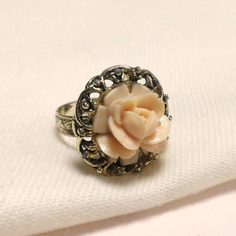 Peach roos ring 70s