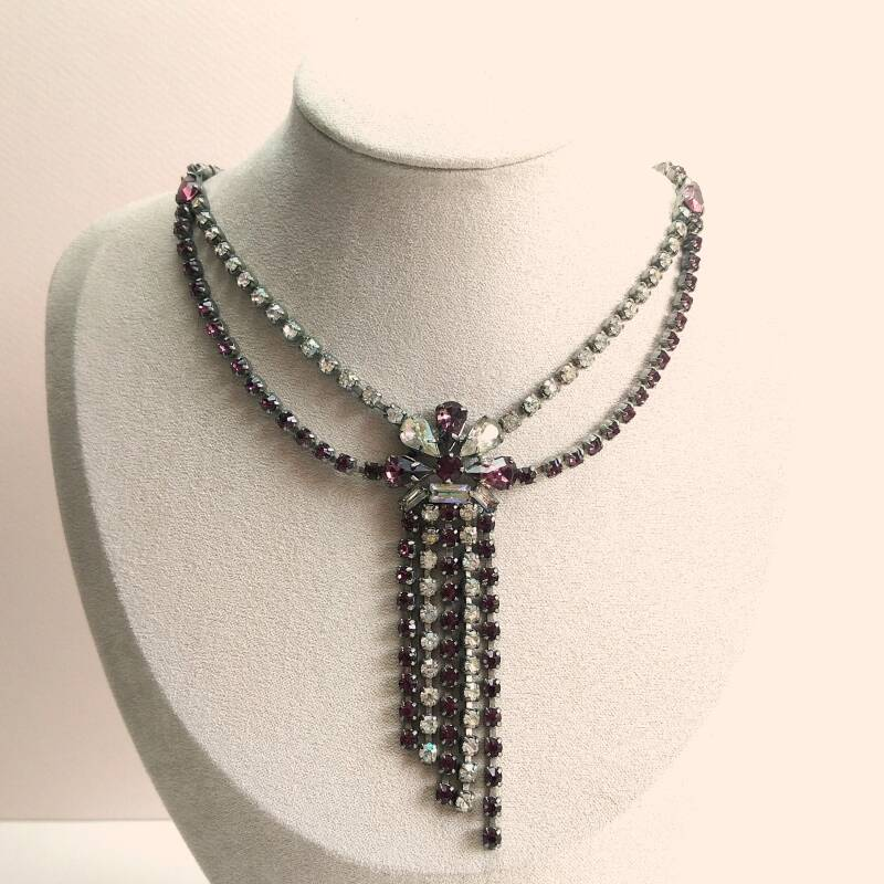Hollywood glamour strass ketting 50s