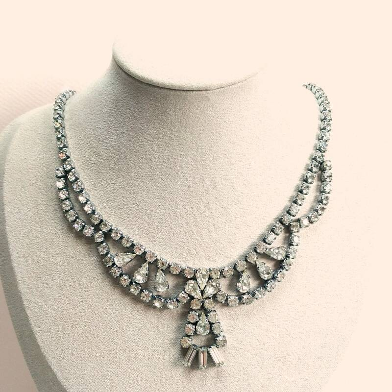 Hollywood style strass ketting 50s