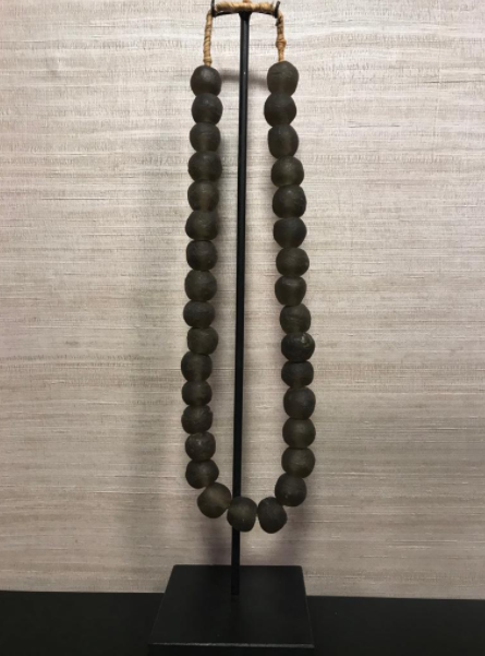 Glass Beads On Stand   Taupe M