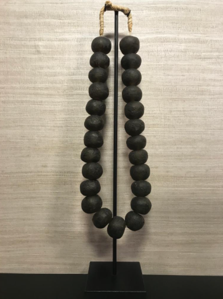 Glass Beads On Stand | Taupe L