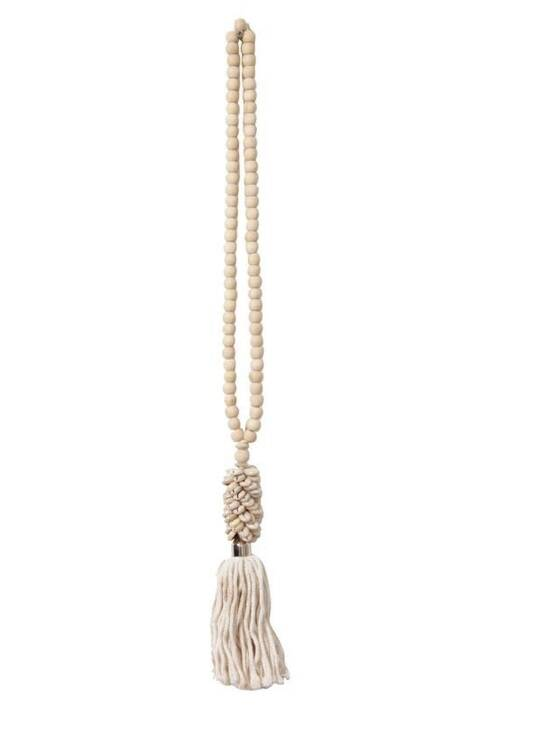 Embrasse Bead Deco Necklace | White