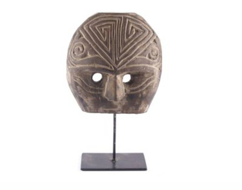 Carved Mask On Stand | S