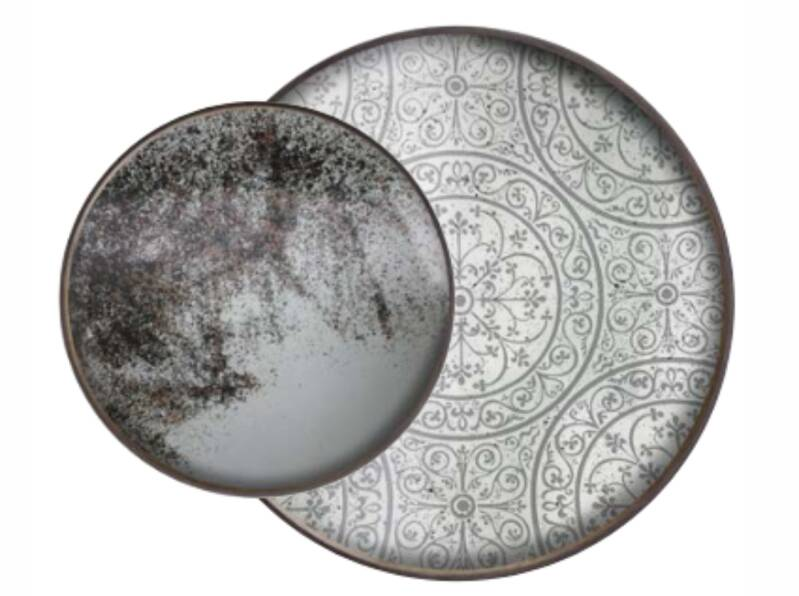 Perfect Combination  Heavy Aged Moroccan Trays  | Dienbladen L-S