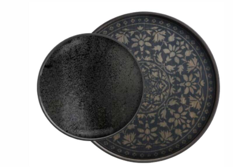 Perfect Combination  Charcoal Marrakesh Trays  | Dienbladen L-S