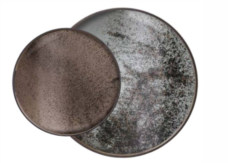 Perfect Combination Clear Brons Mirror Trays  | Dienbladen L-S