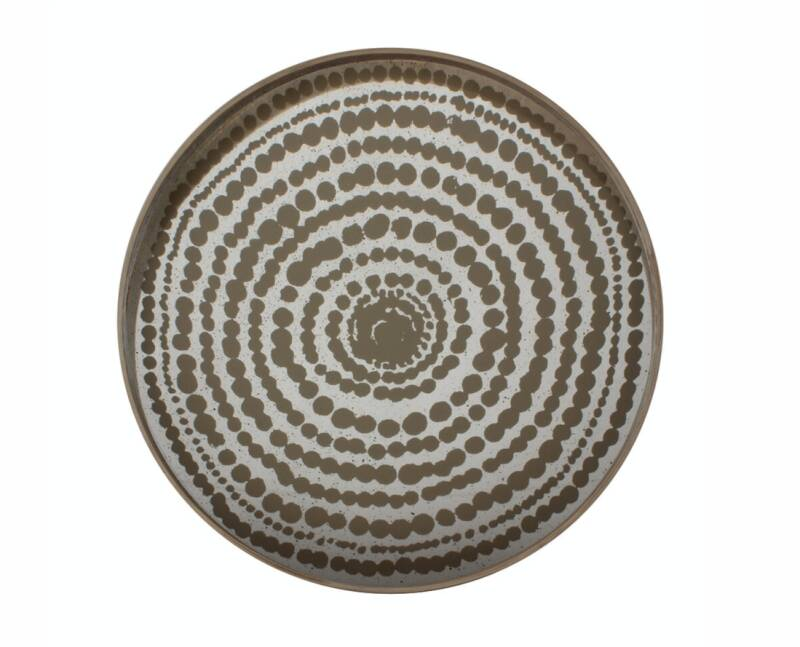 Gold Beads Mirror 20373 L Dienblad | Tray
