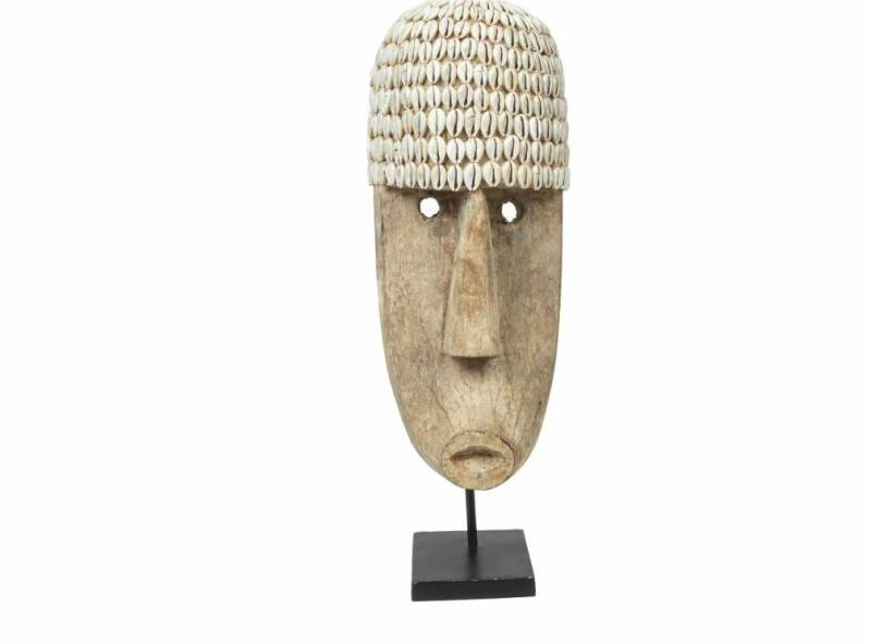 Cowrie Mask on stand