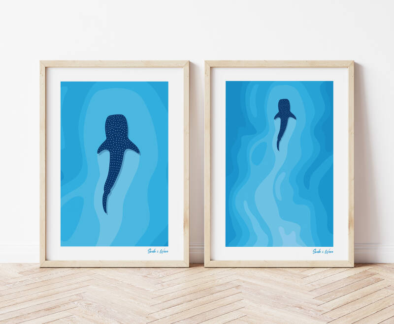 Whale Shark Art Print Set