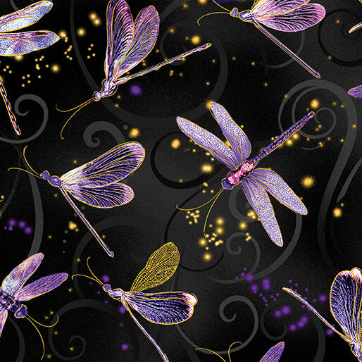 Dragonfly Dance - Dancing Dragonflies - Black